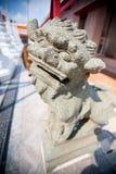Kinesisk lejonstaty Arkivfoto