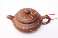 kinesisk lerateapot Arkivfoto