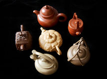 kinesisk lerateapot royaltyfri foto