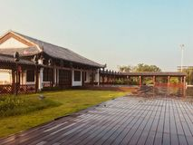 Kinesisk Lingnan stilarkitektur arkivfoton