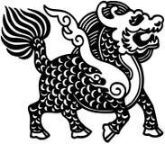 kinesisk lion royaltyfri illustrationer