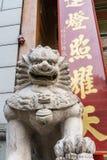 Kinesisk lionskulptur Royaltyfri Bild