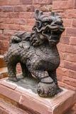 kinesisk lionstaty Arkivbilder