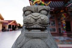 kinesisk lionstaty Arkivfoton
