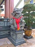 kinesisk lionstaty Arkivfoto