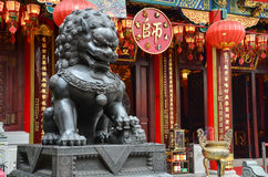 kinesisk lionstaty royaltyfri foto