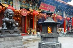 kinesisk lionstaty royaltyfri fotografi