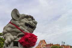kinesisk lionstaty Royaltyfria Bilder
