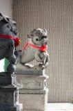 kinesisk lionstatysten royaltyfria foton