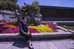 Kinesisk livsföring för kvinna` s royaltyfri bild