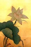 kinesisk lotusblommamålning fotografering för bildbyråer