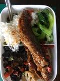 Kinesisk lunch i lunchasken Royaltyfri Fotografi