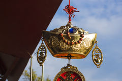 Kinesisk lycklig guld royaltyfri foto
