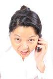 kinesisk lycklig kvinna för affär Arkivbilder