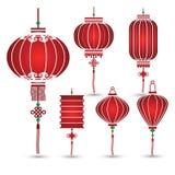 kinesisk lykta stock illustrationer