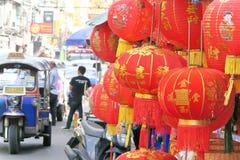 Kinesisk lykta i kinesisk festival för nytt år Royaltyfria Bilder