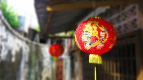 Kinesisk lykta i Penang, Malaysia Royaltyfri Bild