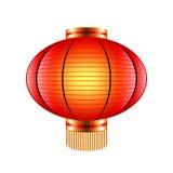 Kinesisk lykta som isoleras på den vita vektorn stock illustrationer