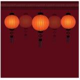 Kinesisk lyktabakgrund för festival - illustration Royaltyfri Bild