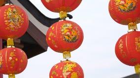 kinesisk lyktared stock video