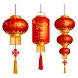 Kinesisk lyktauppsättning Fotografering för Bildbyråer
