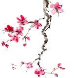 kinesisk målning stock illustrationer