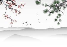 Kinesisk målning Royaltyfri Fotografi