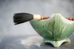 kinesisk målning för konstborste Fotografering för Bildbyråer