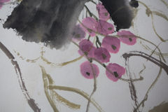 Kinesisk målning på papper, lokal Royaltyfri Foto