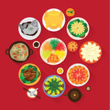 Kinesisk mötematställe för nytt år royaltyfri illustrationer