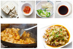 Kinesisk mat - Braised Tofu Royaltyfri Fotografi