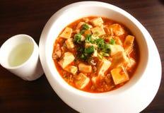 Kinesisk mat för Closeup, Mapo doufukines royaltyfri bild