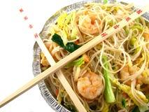 kinesisk mat ut tar arkivbild