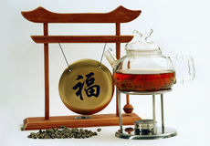 kinesisk matlagningtea royaltyfria foton