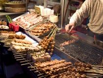 kinesisk matmarknad Fotografering för Bildbyråer