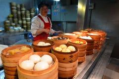 Kinesisk matmarknad i Shanghai Kina Royaltyfri Fotografi