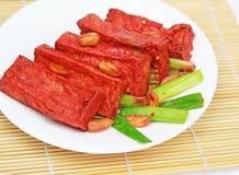 kinesisk maträtttofu Arkivfoton