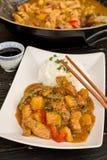 Kinesisk matsötsak och surt griskött royaltyfri fotografi
