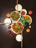 Kinesisk matställe för familj tre Royaltyfri Bild