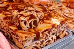 Kinesisk matzhupidong (svinlädergelatin) Fotografering för Bildbyråer