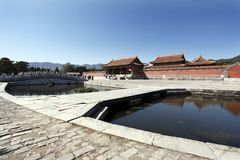 kinesisk mausoleumkunglig person Fotografering för Bildbyråer