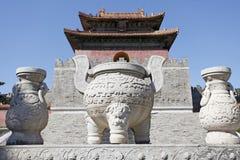 kinesisk mausoleumkunglig person Arkivfoto