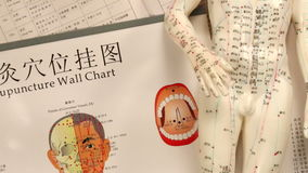 Kinesisk medicin - akupunktur Arkivbild