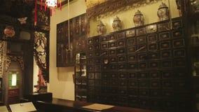 Kinesisk medicin Herb Store. lager videofilmer
