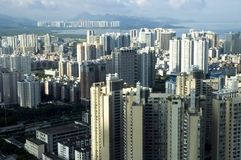 kinesisk metropolis shenzhen arkivbild