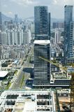 kinesisk metropolis shenzhen arkivfoto