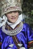 Kinesisk Miao nationalityflicka Arkivbilder