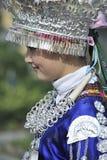 Kinesisk Miao nationalityflicka Royaltyfria Foton