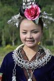 Kinesisk Miao nationalitykvinna Royaltyfria Bilder