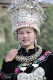 Kinesisk Miao nationalitykvinna Royaltyfri Bild